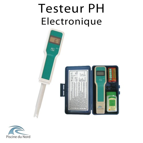 Testeur électronique de pH de l'eau de piscine
