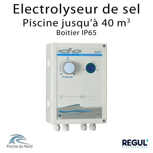 Electrolyseur de sel en boitier étanche pour piscine 40 m3
