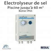 Electrolyseur de sel en boitier étanche pour piscine 60 m3