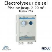 Electrolyseur de sel en boitier étanche pour piscine 90 m3