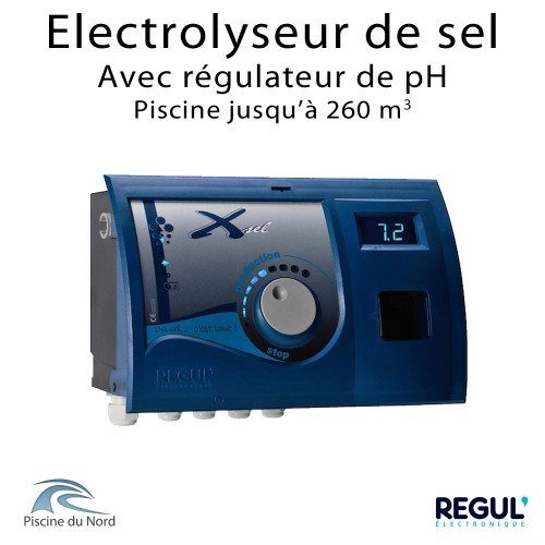 Electrolyseur et régulateur pH pour piscine 260 m3 Xsel 260 pH