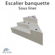 Escalier d'angle banquette sous liner, 3 marches