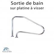 Sortie de bain en acier inoxydable pour piscine (platine soudée)