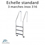 Echelle 3 marches standard en inox 316