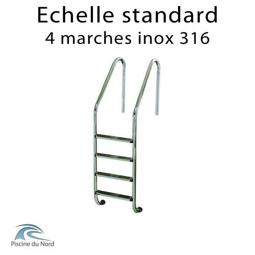 Echelle 4 marches standard en inox 316