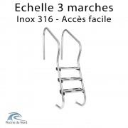 Echelle 3 marches accès facile en inox 316