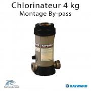 Chlorinateur piscine Hayward, capacité 4 kg, raccordements 1 ''1/2 montage By-pass