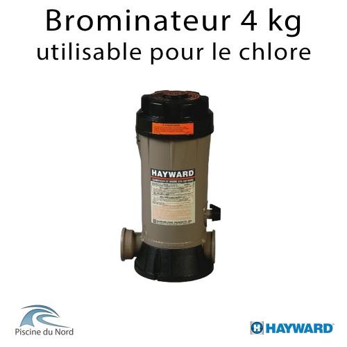 Brominateur piscine Hayward, capacité 4 kg, raccordements tubbing, montage en derivation