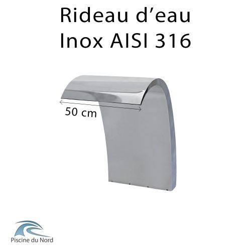 Rideau d'eau 50 cm en Inox AISI 316