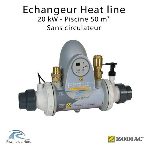 Echangeur de chaleur Heat line 20kW sans circulateur Zodiac Poolcare