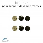Kit liner pour support de tube - 2 fixations