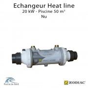 Echangeur tubulaire piscine Heat line 20kW Nu Zodiac Poolcare
