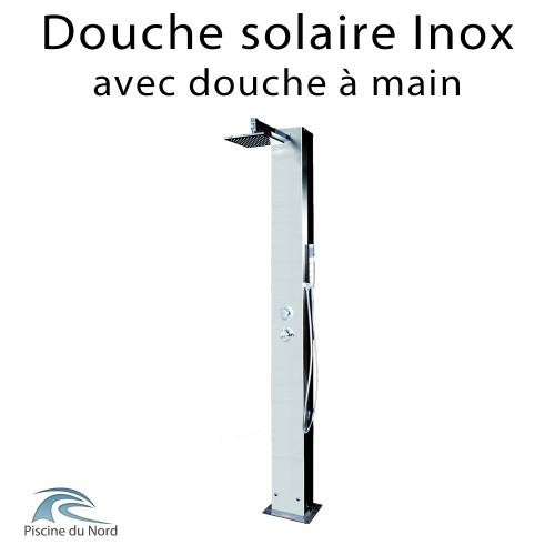 Douche extérieure en inox 304 solaire avec douche à main