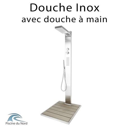 Douche moderne en inox 304 avec socle