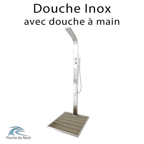 Douche piscine en inox au design contemporain
