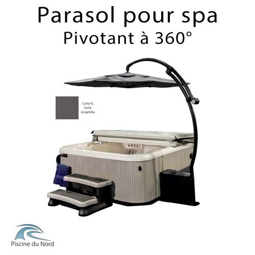 Parasol pour spa pivotant à 360°