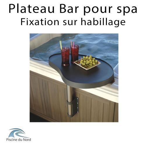 Plateau bar pour spa fixation sur habillage