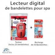 Lecteur digital de bandelettes pour spa