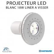 Projecteur Led Blanc 18W à visser sur traversé de paroi