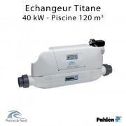 Echangeur piscine Aqua mex 40kW Titane Pahlén