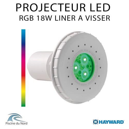 Projecteur Led RGB multicouleur 15W à visser sur traversé de paroi