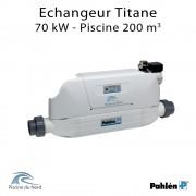 Echangeur piscine Aqua mex 70kW Titane Pahlén
