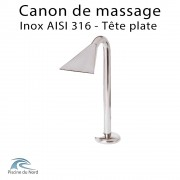 Canon de massage en inox buse plate pour piscine publique