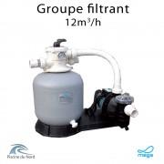 Groupe filtrant mega filtre 12m³/h + Pompe de filtration 0.75 CV
