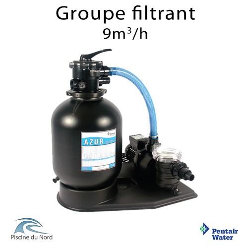 Set de filtration pentair azur filtre 9m³/h + Pompe swimney 0,75 CV
