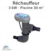 Réchauffeur électrique 3 kW pour piscine de 30 m3 - R3K