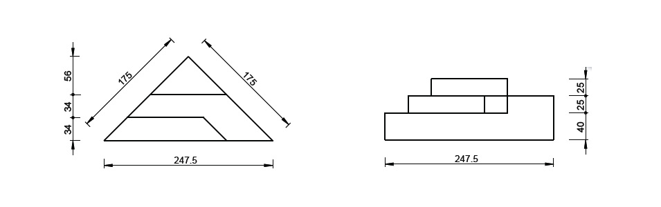 Dimensions escalier d'angle banquette préfabriqué 3 marches pour piscine